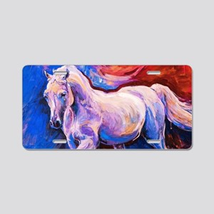 Horse Painting Aluminum License Plate