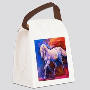 Horse Painting Canvas Lunch Bag