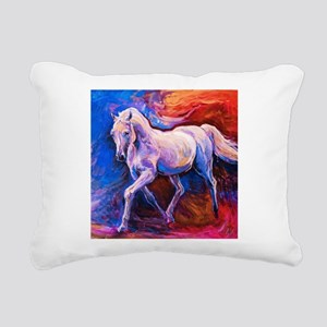Horse Painting Rectangular Canvas Pillow