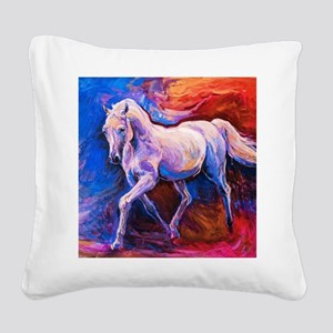 Horse Painting Square Canvas Pillow