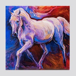 Horse Painting Tile Coaster