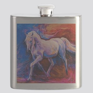Horse Painting Flask