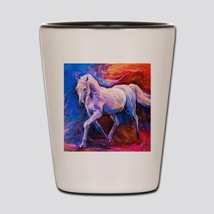 Horse Painting Shot Glass