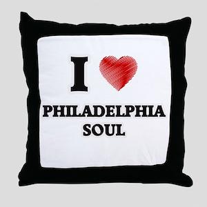 I Love Philadelphia Soul Throw Pillow