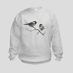 chickadee song birds Kids Sweatshirt
