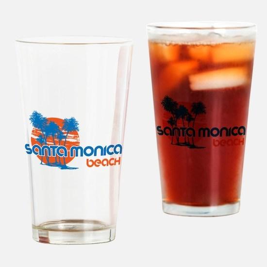 Santa Monica Beach, California Drinking Glass
