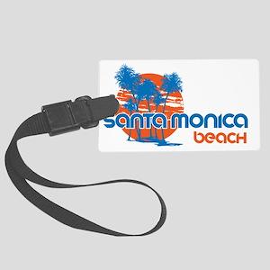 Santa Monica Beach, California Large Luggage Tag