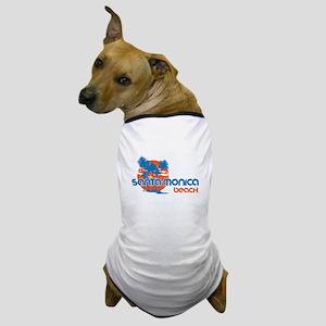 Santa Monica Beach, California Dog T-Shirt