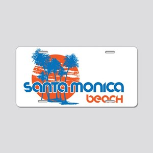 Santa Monica Beach, Califor Aluminum License Plate