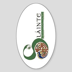 Slainte Celtic Knotwork Oval Sticker