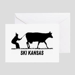 Ski Kansas Greeting Cards