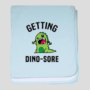 Dino-Sore baby blanket