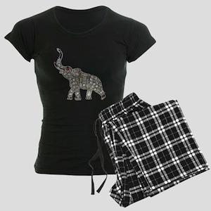 Vintage Rhinestone Elephant Pajamas