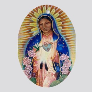 Virgin Mary - Our Lady Of Guadalupe Oval Ornament
