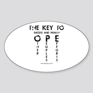 The Key To Success And Wealth OPE Sticker