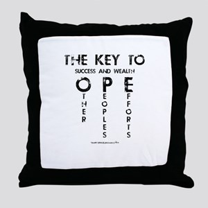 The Key To Success And Wealth OPE Throw Pillow