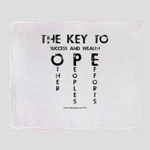 The Key To Success And Wealth OPE Throw Blanket