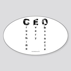 CEO Crushing Every Obstacle Sticker