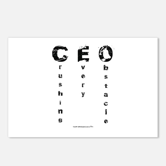 CEO Crushing Every Obstacle Postcards (Package of