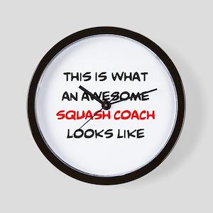 awesome squash coach Wall Clock