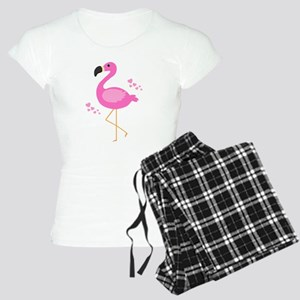 Pink Flamingo Hearts Pajamas