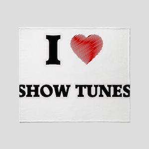 I Love Show Tunes Throw Blanket
