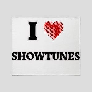 I Love Showtunes Throw Blanket