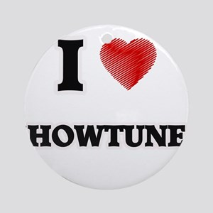 I Love Showtunes Round Ornament