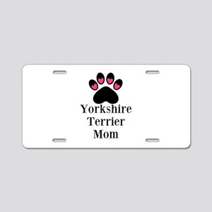Yorkshire Terrier Mom Aluminum License Plate