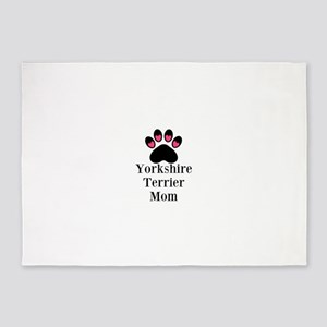 Yorkshire Terrier Mom 5'x7'Area Rug