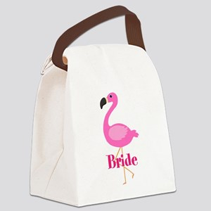 Bride Pink Flamingo Canvas Lunch Bag