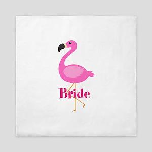 Bride Pink Flamingo Queen Duvet