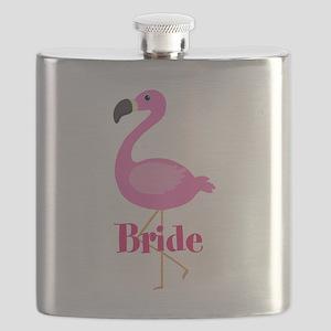 Bride Pink Flamingo Flask