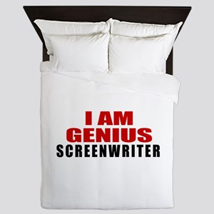 I Am Genius Screenwriter Queen Duvet
