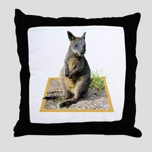 Autumn the Swamp Wallaby Throw Pillow