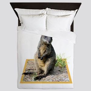 Autumn the Swamp Wallaby Queen Duvet