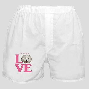 LOVE Bichon Frise Boxer Shorts