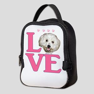 LOVE Bichon Frise Neoprene Lunch Bag