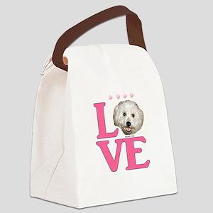 LOVE Bichon Frise Canvas Lunch Bag