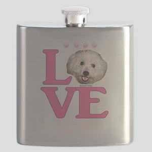 LOVE Bichon Frise Flask