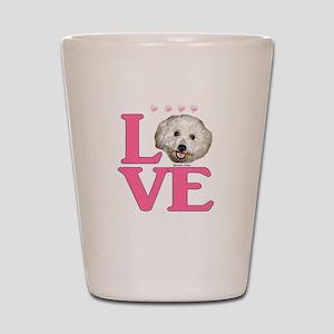LOVE Bichon Frise Shot Glass