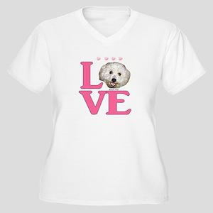 LOVE Bichon Frise Plus Size T-Shirt
