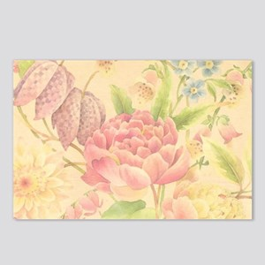 Peony Floral Print Postcards (Package of 8)