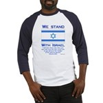 We Stand With Israel Baseball Jersey