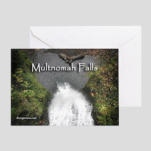 Multnomah - Looking down! Greeting Card