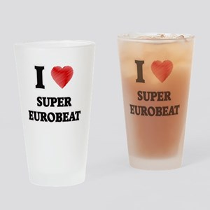 I Love Super Eurobeat Drinking Glass
