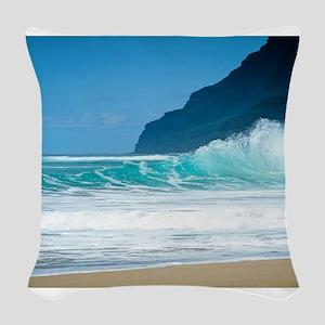 Polihale Beach Kauai Woven Throw Pillow