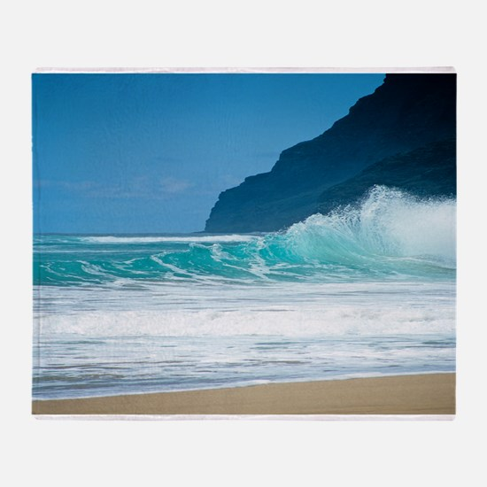 Polihale Beach Kauai Throw Blanket