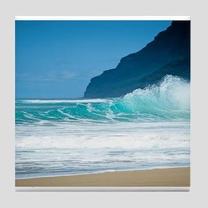 Polihale Beach Kauai Tile Coaster