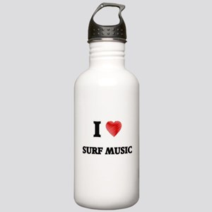 I Love Surf Music Stainless Water Bottle 1.0L